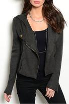 Hem & Thread Moto Charcoal Jacket