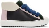 Fendi Multicolor Shearling Sneakers