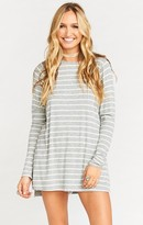 MUMU Lewis Top ~ Slinky Rib Striped Heather Grey & White