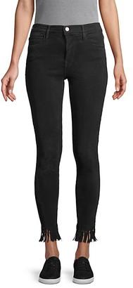 Frame Le High Skinny Fringe-Hem Ankle Jeans