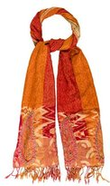 Rachel Zoe Patterned Fringe-Accented Shawl