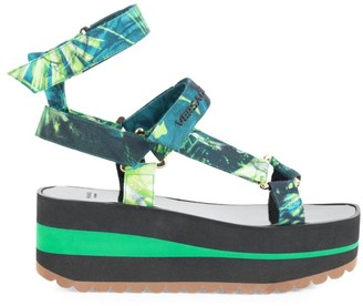 Versace Jungle-Print Platform Sport Sandals