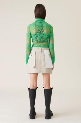 Ganni Linen Mini Skirt