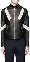 Neil Barrett 'Retro Modernist' panel leather racer jacket