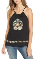 Band of Gypsies Women's Floral Embroidered Tank