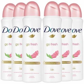 Dove Women Go Fresh Pomegranate & Lemon Verbana Aerosol Anti-Perspirant Deodorant 150Ml X6