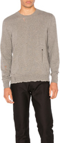 Lanvin Open Stitch Crewneck Sweater