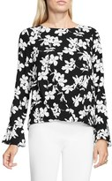 Vince Camuto Women's Small Fresco Blooms Drape Front Blouse