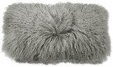 """Donna Karan Home Grey Flokati 11"""" x 22"""" Decorative Pillow"""
