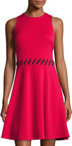 Maggy London Fit-and-Flare Scuba Dress, Cosmo Red