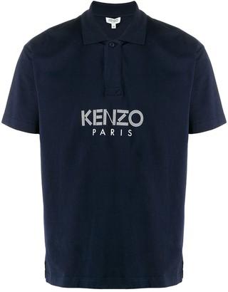 Kenzo Sport Logo Print Polo Shirt