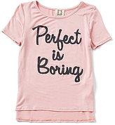 People's Project LA Big Girls 7-16 Perfect is Boring Short Sleeve Tee