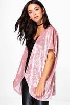 Boohoo Niamh Velvet Kimono