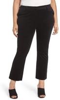 Sejour Plus Size Women's Velvet Ankle Pants
