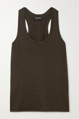 Tom Ford Stretch-linen Tank - Army green