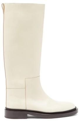 Jil Sander Panelled Knee-high Leather Boots - Light Beige