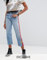 Reclaimed Vintage Revived Festival Levi's Jeans With Trim