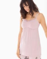 Soma Intimates Satin Trimmed Pajama Cami Vintage Pink