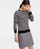 Ann Taylor Tall Leopard Print Sweater