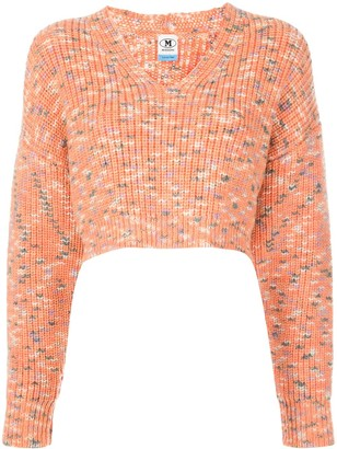 M Missoni Cropped Chunky Knit Jumper