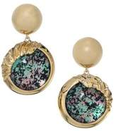Alexis Bittar Lucite Sculptural Sphere Dangling Drop Earrings