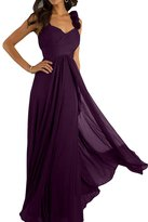 Ivydressing Empire V-neck Spaghetti Straps Ruffles Floor Length Bridesmaid Dresses
