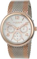 Akribos XXIV Women's AK559RG Quartz Multi-Function Stainless Steel Mesh Bracelet Watch
