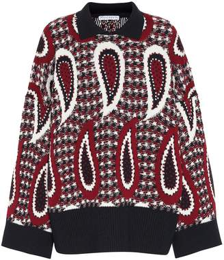 J.W.Anderson Paisley crochet wool sweater