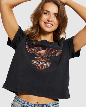 Harley-Davidson Ss Eagle Fb Skull Crop Tee