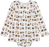 Gucci Kitten print cotton dress 3-24 months
