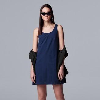 Vera Wang Women's Simply Vera Perforated Tank Dress