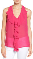 KUT from the Kloth 'Emma' Sleeveless Ruffle Front Top