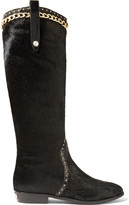 Just Cavalli Embellished calf-hair boots