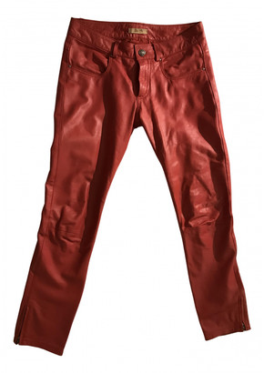 Bel Air Red Leather Trousers