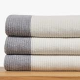 James Perse Cashmere Cardigan Stitch Blanket