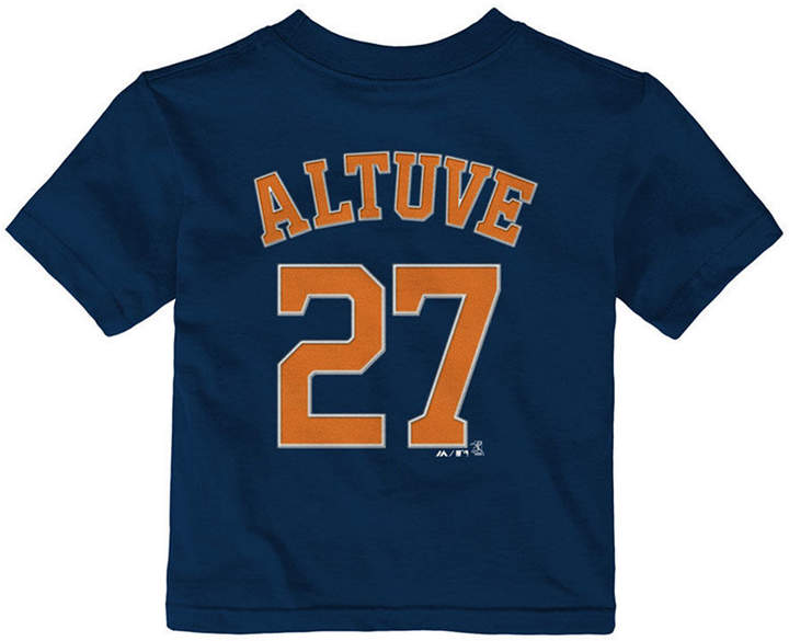 official photos 4ec51 dfc8e Jose Altuve Houston Astros Official Player T-Shirt, Infants (12-24 Months)