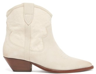 Isabel Marant Demar Suede Ankle Boots - White