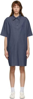 MAISON KITSUNÉ Blue Polo Dress