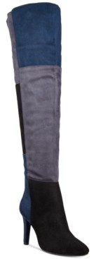 Rialto Carpio Colorblocked Over-The-Knee Boots Women's Shoes