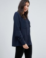 Vila Shirt With Contrast Buttons