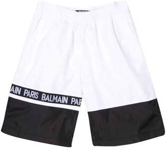 Balmain White And Black Swimsuit