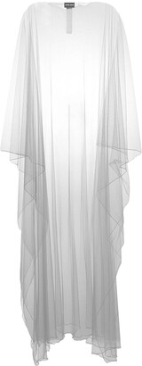 Giorgio Armani Sheer Long Cape