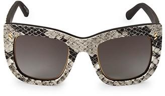 Stella McCartney 48MM Semi Cat Eye Animal-Print Sunglasses