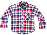 Something Strong Pink Plaid Flannel Button-Up - Boys
