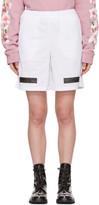 Off-White White Brushed Diagonal Mesh Shorts