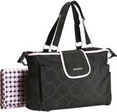 Carter's Tonal Dot Diaper Tote - Black/Pink