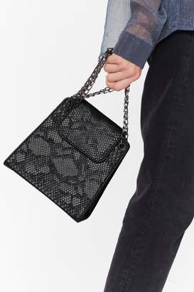 Nasty Gal WANT Out at Night Snake Shoulder Bag