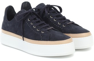 Max Mara Tasmin suede sneakers