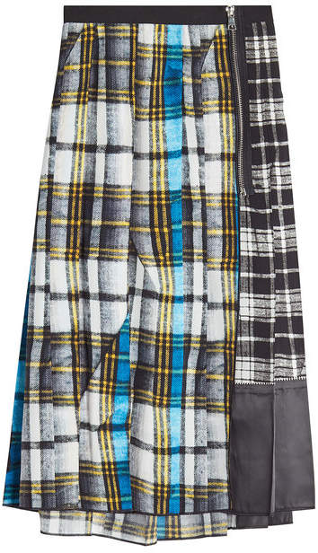 Marc Jacobs Printed Silk Midi Skirt