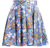Mary Katrantzou Simona Butterfly-print Cotton Mini Skirt - Womens - Blue Multi